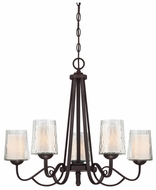 Quoizel ADS5005DC Adonis Traditional 5-Light Dark Cherry Finish Chandelier Lighting