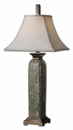 Uttermost 26461 Vasto 35 Inch Tall Slim Transitional Crushed Glass Table Light With Nickel Plated Details
