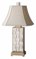 Uttermost 26512 Travertine 30 Inch Tall Stone Insert Table Top Lamp