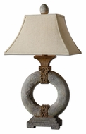 Uttermost 26514 Kefton Mossy Green Glaze Ceramic Donut Table Light - 34 Inches Tall
