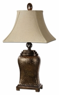 Uttermost 26515 Easton 34 Inch Tall Textured Ceramic Lamp With Bronze Glaze