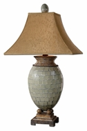 Uttermost 26516 Kayson 37 Inch Tall Pale Blue Green Mosaic Bed Lamp