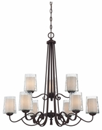 Quoizel ADS5009DC Adonis Two Tier 9-Light Traditional Chandelier Lamp