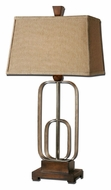 Uttermost 26535 Piomba Antique Silver Metal 34 Inch Tall Transitional Bedroom Lamp