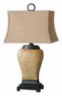 Uttermost 26540 Melitta Transitional 33 Inch Tall Pitted Ceramic Lamp