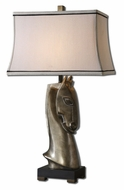 Uttermost 26547 Alomar 31 Inch Tall Burnished Antique Silver Horsehead Table Lighting