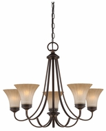 Quoizel ALZ5005PN Aliza Bronze 5-Light Fluted Glass Traditional Chandelier