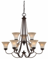 Quoizel ALZ5009PN Aliza Two Tier 5-Light Traditional Dining Chandelier