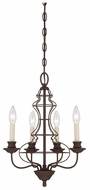 Quoizel LLA5004RA Laila Antique Bronze 4-Light Candle Chandelier
