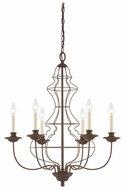 Quoizel LLA5006RA Laila Traditional 6-Candle Bronze Chandelier Lamp