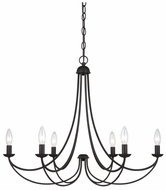 Quoizel MRN5006IB Mirren 6-Light Bronze Candelabra Ceiling Chandelier Lighting