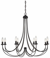 Quoizel MRN5008IB Mirren 32 Inch Diameter Candle Chandelier with Bronze Finish