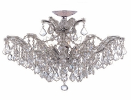 Crystorama 4439CHCLMWP Maria Theresa Convertible Semi Flush to Chandelier Chrome Light