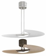 Fanimation Fans FP8026 Marea Contemporary Single-blade Flush or Downrod Mount Ceiling Fan in Oil-rubbed Bronze with Amber Frosted Blade or Satin Nicke