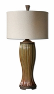 Uttermost 27481-1 Olivola Rust Red Glazed 34 Inch Tall Transitional Bed Lamp