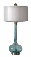 Uttermost 27482-1 Junelle 33 Inch Tall Fluted Blue Glass Lamp