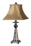 Uttermost 27484 Serravalle Transitional Etched Amber Glass 29 Inch Tall Bed Lamp