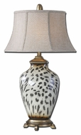 Uttermost 27489 Malawi Cheetah Print 34 Inch Tall Ceramic Table Lamp Lighting