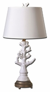 Uttermost 27493 Coral Glossy White 31 Inch Tall Coastal Table Lamp Lighting