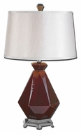 Uttermost 27494 Parete Ceramic 28 Inch Tall Bed Lamp With Round Hardback Shade