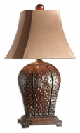 Uttermost 27511 Valdemar 34 Inch Tall Transitional Mahogany Finish Table Top Lamp