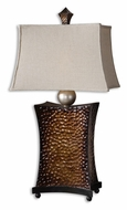Uttermost 27641 Bentley Hammered Copper Bronze 35 Inch Tall Night Table Lamp