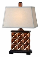 Uttermost 27673 Akino 27 Inch Tall Metallic Golden Bronze Transitional Bed Lamp