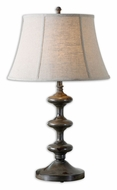 Uttermost 27682 Antonello 32 Inch Tall Distressed Charcoal Gray Transitional Bedroom Table Lamp