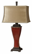Uttermost 26740 Abiona Transtional 33 Inch Tall Red Glaze Table Lamp