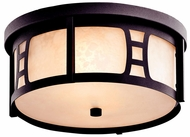 Kichler 49306AZT Oak Bluffs Rustic Outdoor Ceiling Light Fixture