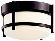 Kichler 49125AZ Tiverton Contemporary Flush Mount Outdoor Ceiling Light