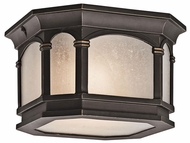 Kichler 49035RZ Nob Hill 2-light Flush Mount Outdoor Ceiling Light Fixture