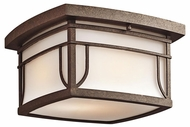 Kichler 49153AGZS Priya Exterior Flush Mount Ceiling Lighting