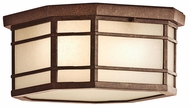 Kichler 9811AGZ Crosett Exterior Craftsman Flush Mount Ceiling Lighting