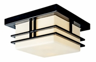 Kichler 49206BKFL Tremillo Art Deco Fluorescent Outdoor Ceiling Fixture