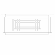 Arroyo Craftsman SDCM13 Scottsdale Craftsman Outdoor Ceiling Light