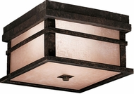 Kichler 9830AGZ Cross Creek 9 Inch Outdoor Flush-Mount Ceiling Lantern