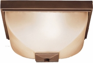 Kichler 9817OZ Olde Bronze Outdoor 13 Inch Sq. Flush Mount Exterior Ceiling Light