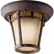 Kichler 9555AGZ Melbern 10 Inch Dia. Outdoor Flush-Mount Ceiling Light