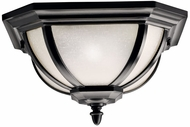 Kichler 9848BK Salisbury 28 Inch Fluorescent Outdoor Flush-Mount Ceiling Light