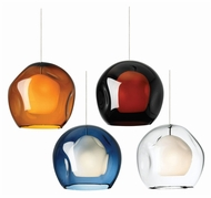 LBL HS539 Mini-Jasper Modern Hand-paddled Mini Pendant Light