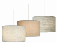 LBL HS590 Fiona Fabric Shade Contemporary Pendant Light