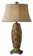 Uttermost 27412 Torricella Golden Bronze Ceramic 35 Inch Tall Lighting Table Lamp