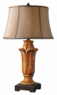 Uttermost 27415 Tulipano 28 Inch Tall Transitional Orange Ceramic Table Lamp