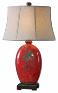 Uttermost 27422 Bellante Ceramic 31 Inch Tall Crackled Red Table Lamp