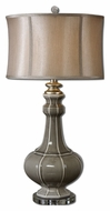 Uttermost 27427-1 Racimo Transitional 32 Inch Tall Gray Ceramic Lamp