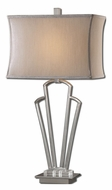 Uttermost 27434-1 Hazeltine Polished Nickel 31 Inch Tall Transitional Table Lighting