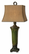 Uttermost 27436 Olea 36 Inch Tall Transitional Crackled Green Ceramic Lamp