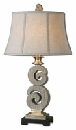 Uttermost 27439 Delshire Bleached Wood Tone Contemporary Table Lamp - 30 Inches Tall