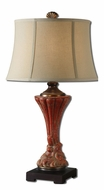 Uttermost 27440 Gustavino 30 Inch Tall Crackled Red Ceramic Table Lamp